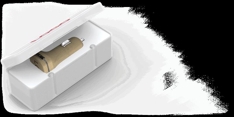 Woodie - Cargadores de Coche USB Personalizados Valencia
