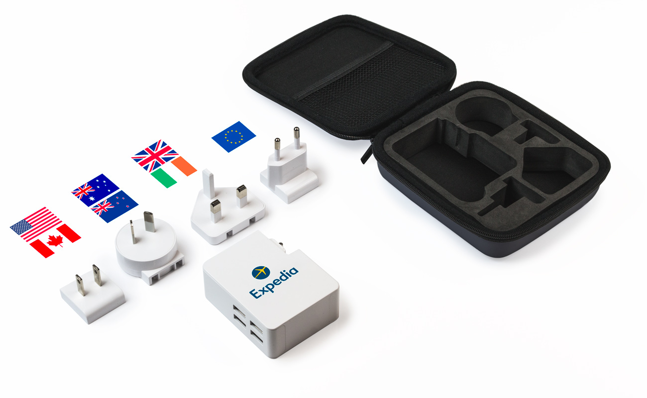 Latitude - Cargadores Viaje USB Personalizar