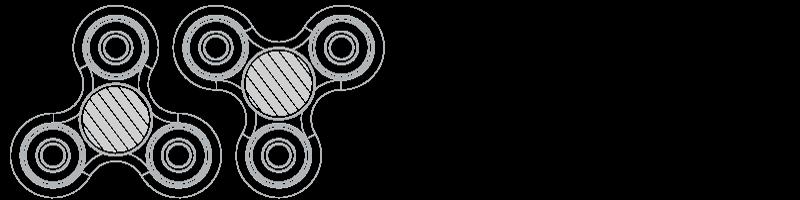 Fidget Spinner Serigrafía