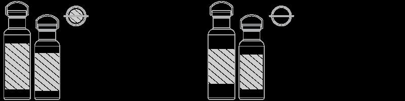 Botella de agua Serigrafía