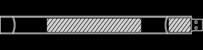 Pulsera USB Serigrafía