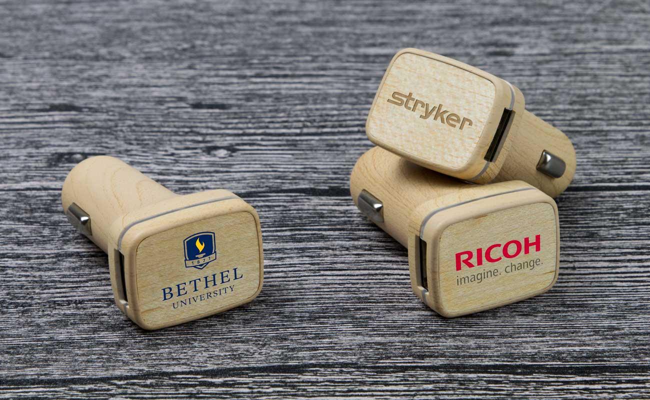 Woodie - Cargadores de Coche USB Personalizar