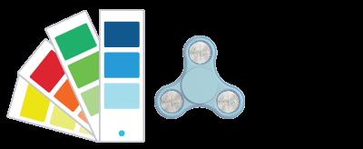 Referencias de Pantone® Fidget Spinner